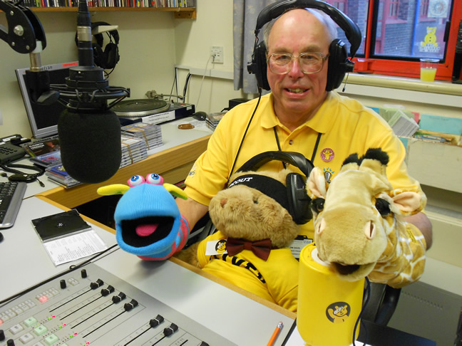 picture of Jim Davis presenting Ridgeway Radio's Children in Need 2013 programme