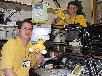 Kieran and Dean in the midst of Children In Need chaos