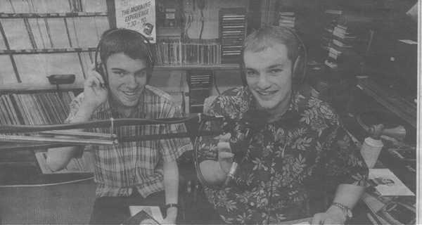 Carl and Matthew in the studio