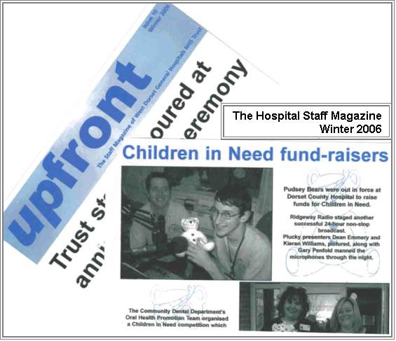 Dorset County Hospital's magazine, 'Upfront'