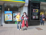 Photo of Town Crier and Amanda Yates