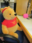 Photo of Winnie The Pooh in studio on Children In Need day