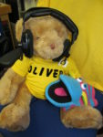 Photo of Oliver Bear in studio on Children In Need day