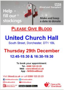 Blood donor session poster