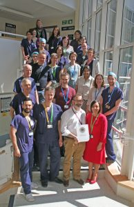 Photo of Dorset County Hospital's anaesthetic service team